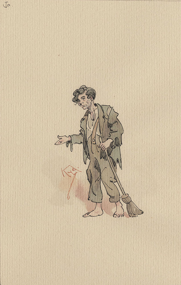 Illustrations of Characters in Dickens's Bleak House--Jo