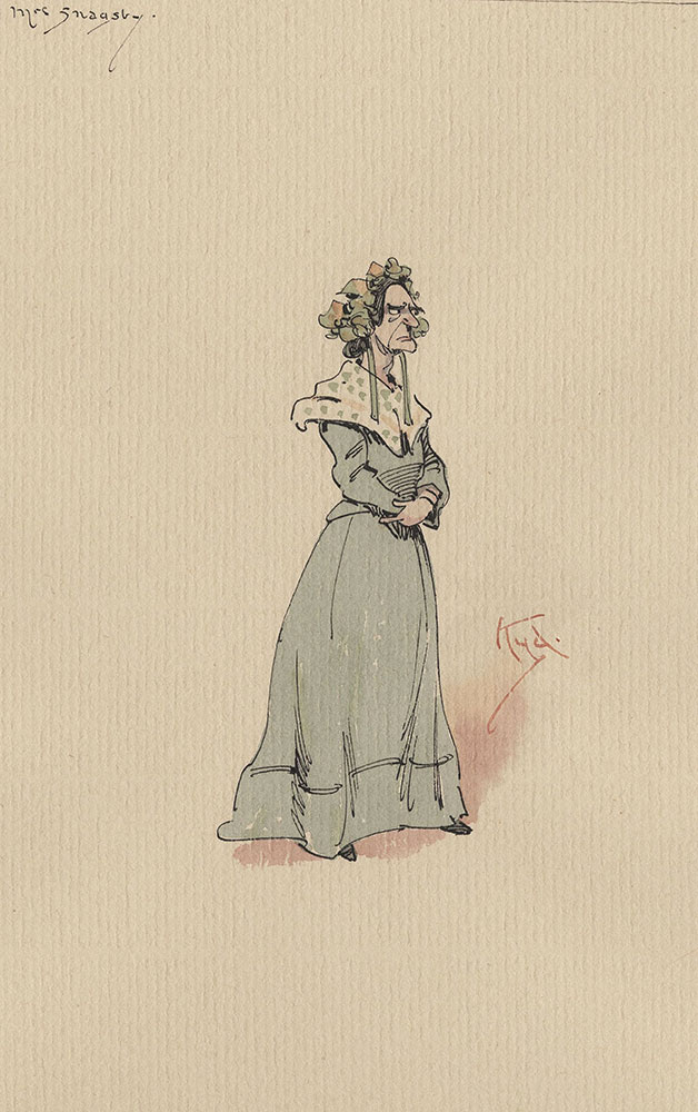 Illustrations of Characters in Dickens's Bleak House--Mrs Snagsby