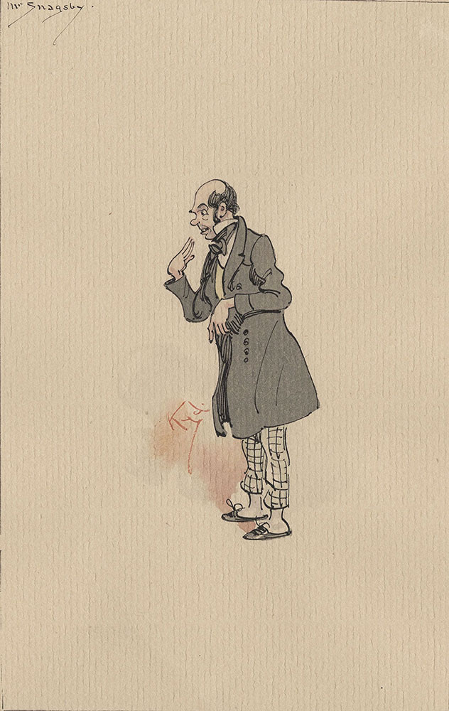 Illustrations of Characters in Dickens's Bleak House--Mr Snagsby