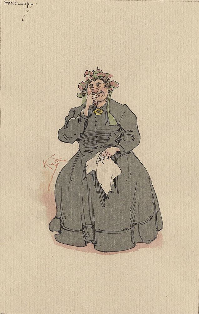 Illustrations of Characters in Dickens's Bleak House--Mrs Guppy