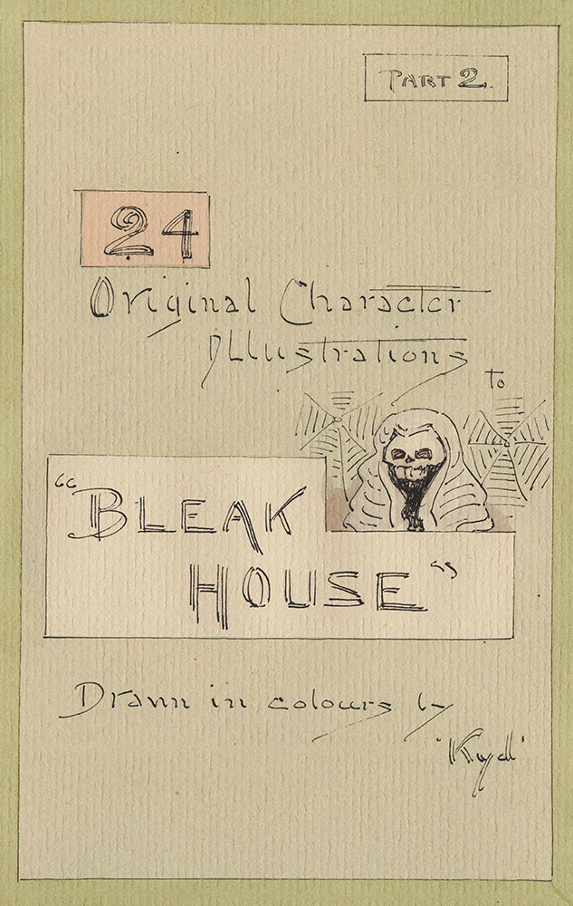Illustrations of Characters in Dickens's Bleak House--Original Character Illustrations, Part 2
