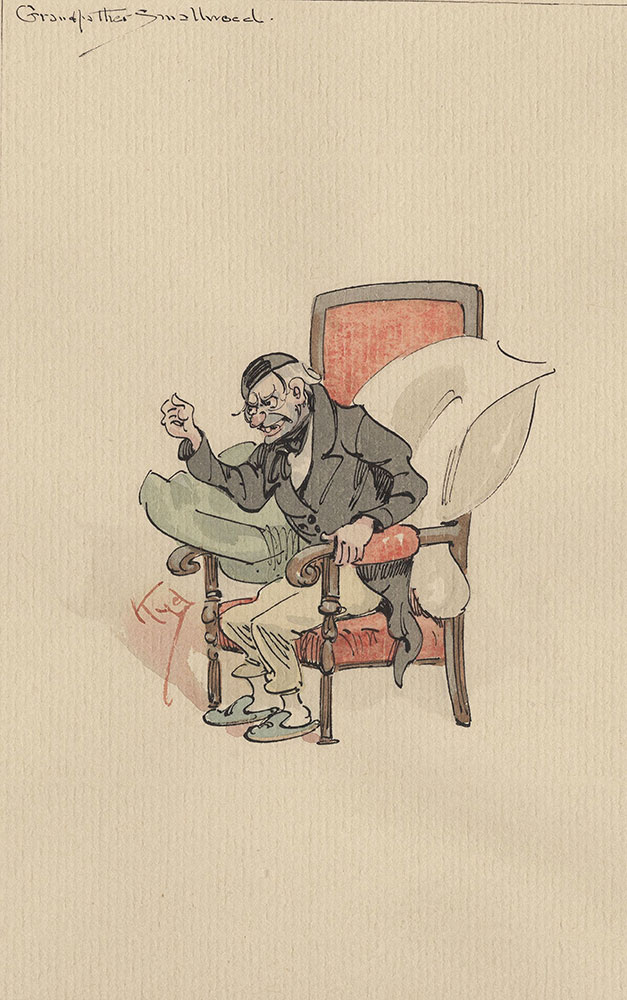 Illustrations of Characters in Dickens's Bleak House--Grandfather Smallweed