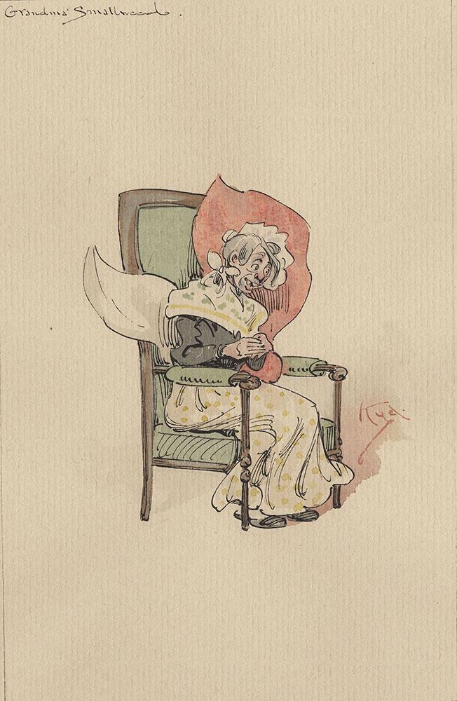 Illustrations of Characters in Dickens's Bleak House--Grandma Smallweed