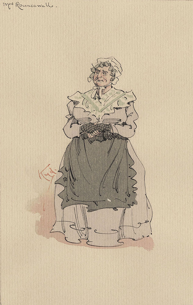 Illustrations of Characters in Dickens's Bleak House--Mrs Rouncewell