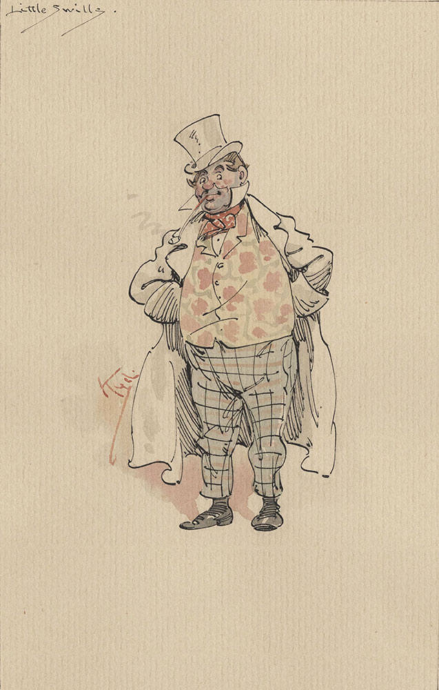 Illustrations of Characters in Dickens's Bleak House--Little Swills