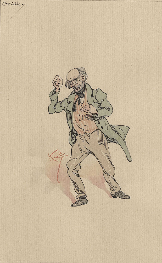 Illustrations of Characters in Dickens's Bleak House--Gridley