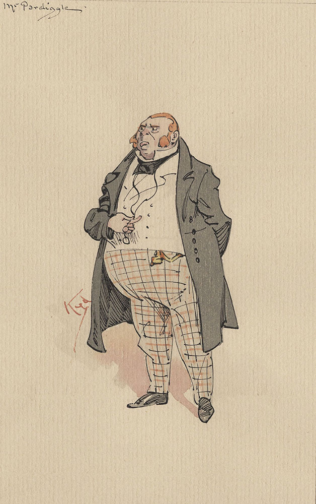 Illustrations of Characters in Dickens's Bleak House--Mr Pardiggle