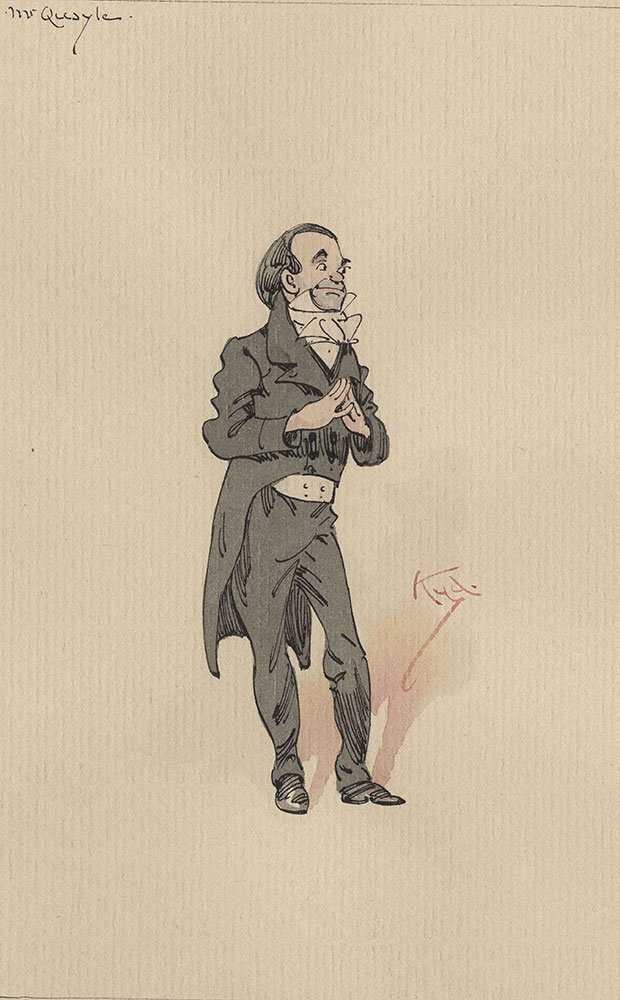 Illustrations of Characters in Dickens's Bleak House--Mr Quayle