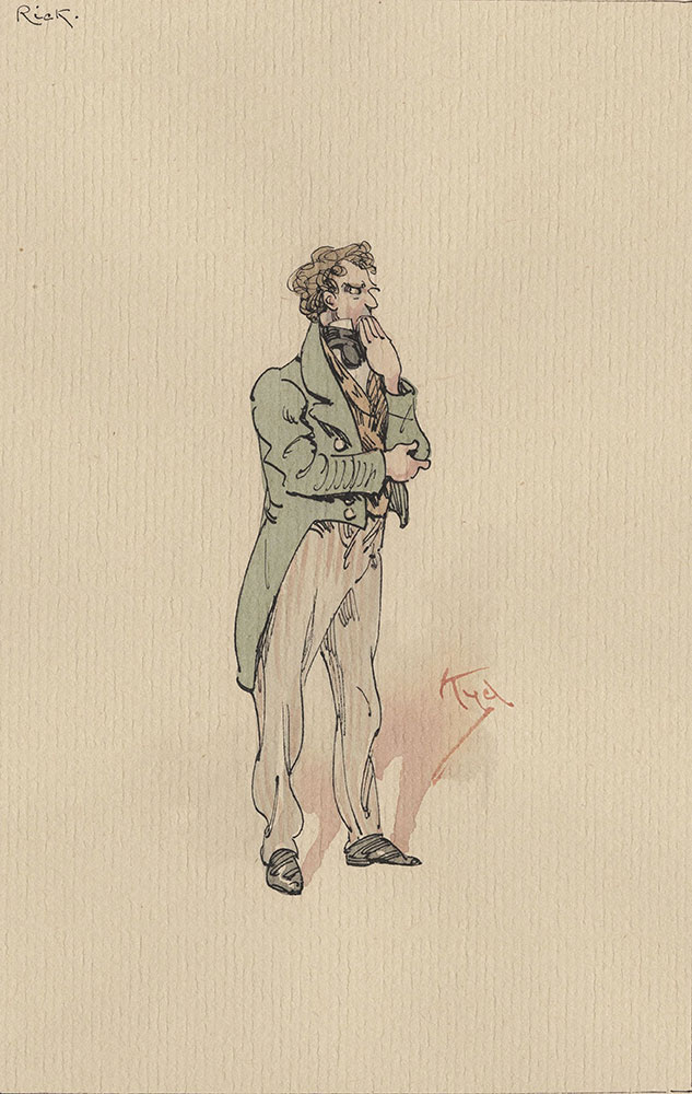 Illustrations of Characters in Dickens's Bleak House--Rick