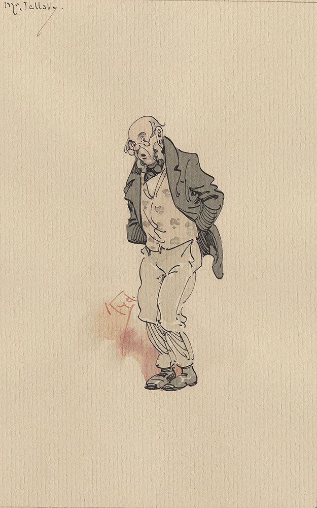 Illustrations of Characters in Dickens's Bleak House--Mr Jellaby