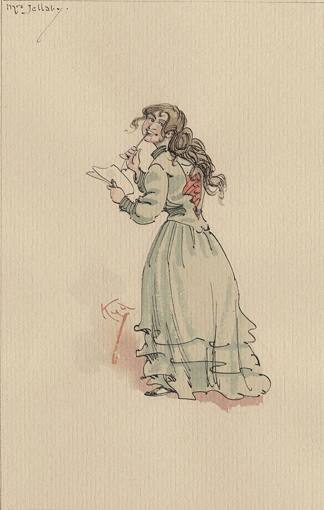 Illustrations of Characters in Dickens's Bleak House--Mrs Jellaby
