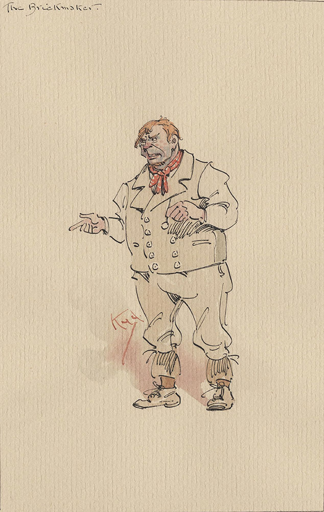 Illustrations of Characters in Dickens's Bleak House--The Brickmaker