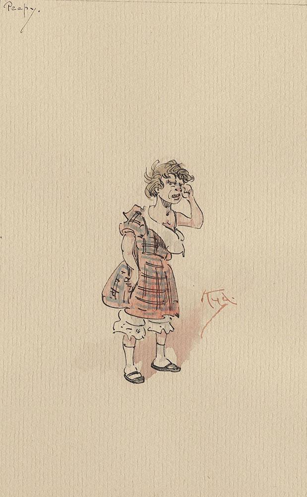 Illustrations of Characters in Dickens's Bleak House--Peepy