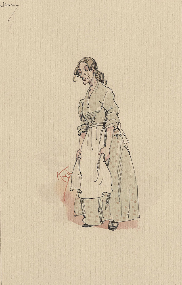 Illustrations of Characters in Dickens's Bleak House--Jenny