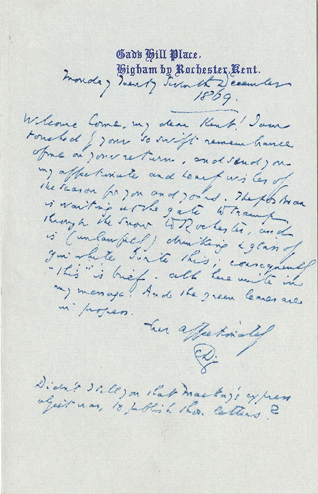 ALs to William Charles Mark Kent