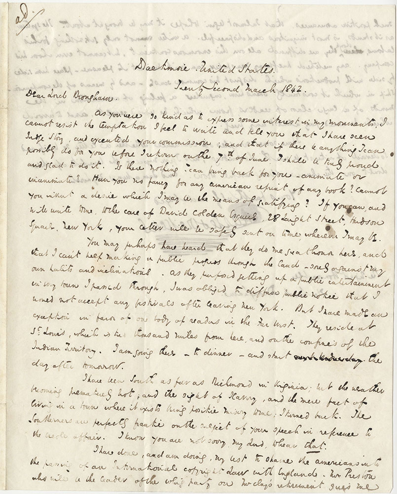 ALs to Lord Brougham