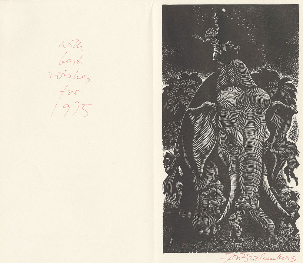 Eichenberg - The Blind Men and the Elephant