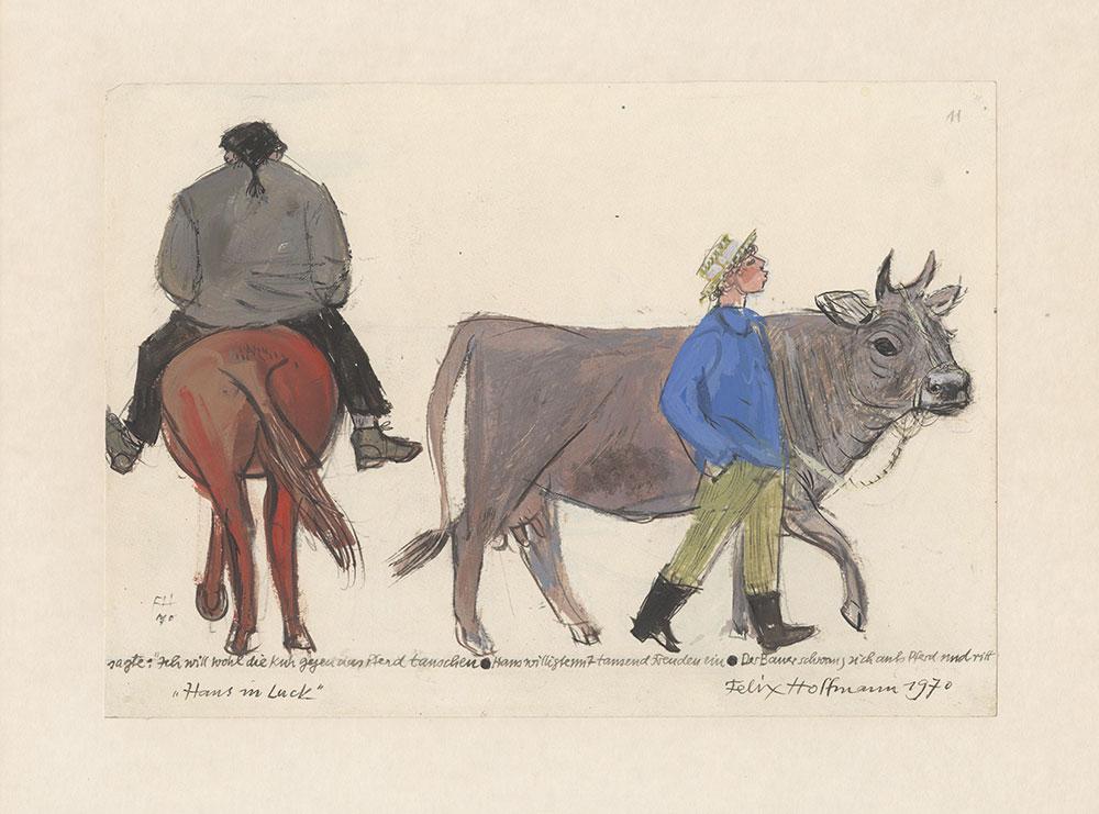 Hoffmann - Hans in Luck - Preliminary Art