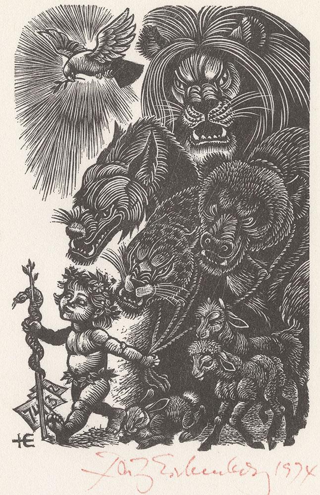 Eichenberg - Print of 1974 Christmas Card
