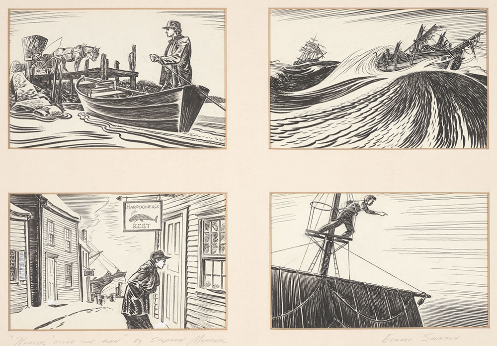 Shenton - Whaler 'Round the Horn - Pages 3, 16, 92, and 102