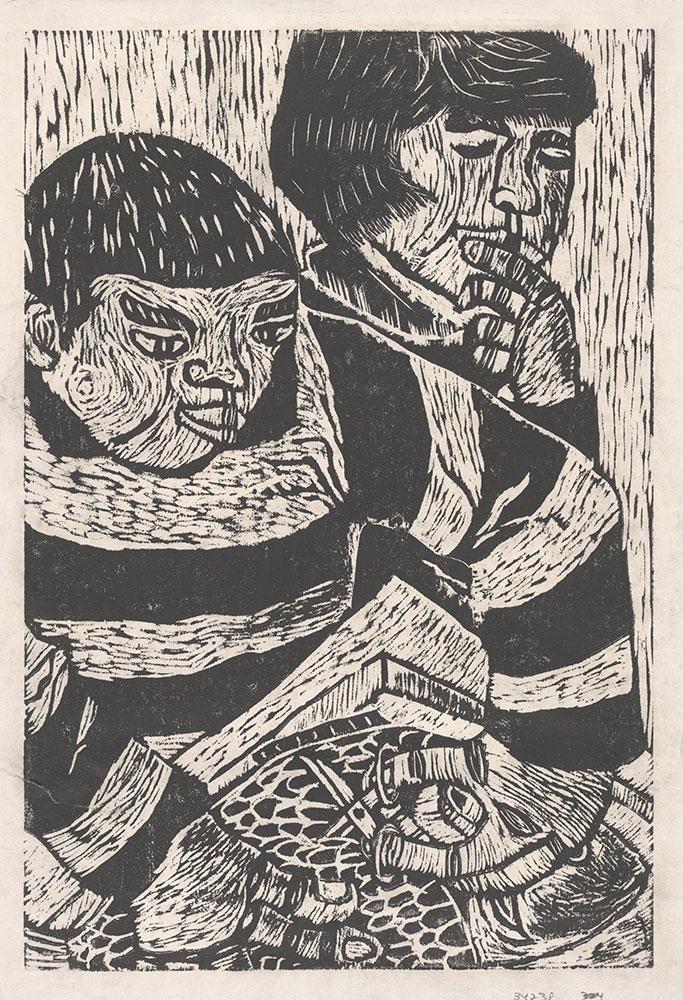 Linocut by Unidentified Artist