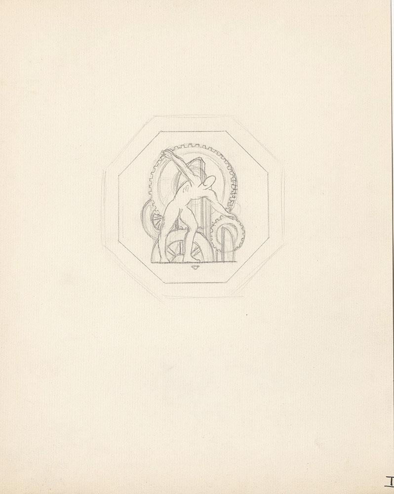 Milhous Sketch - Man with Gears