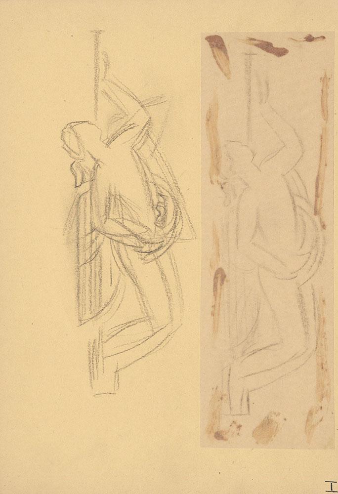 Milhous Sketch - Women Playing Instrument