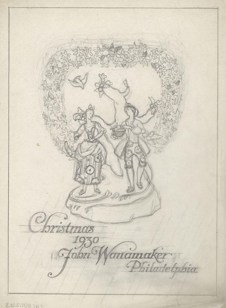 Milhous Sketch - Christmas 1930