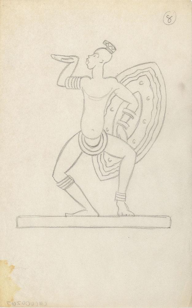 Milhous Sketch - Male Warrior