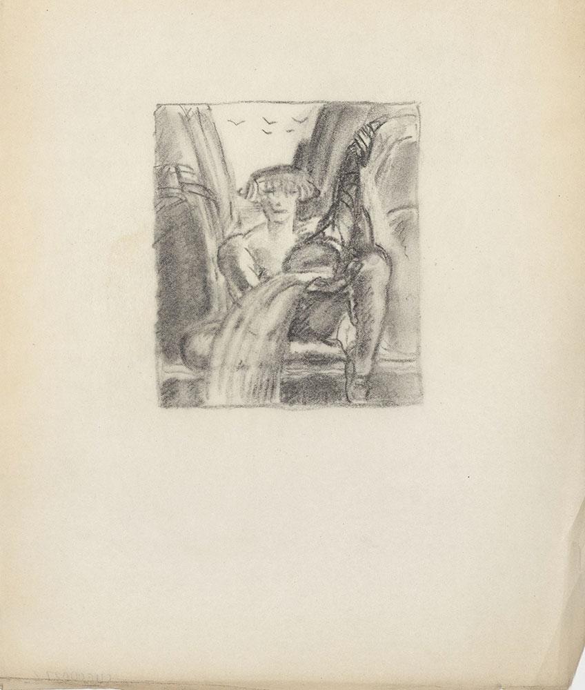 Milhous Sketch - Figure in Nature