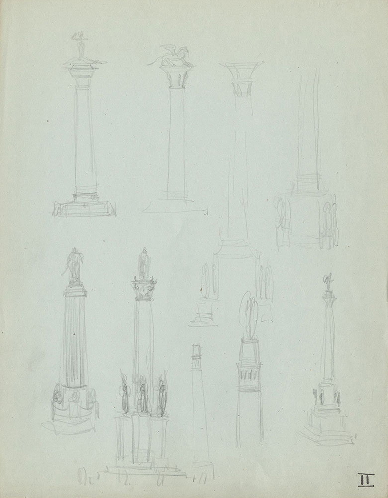 Milhous Sketch - Column Designs