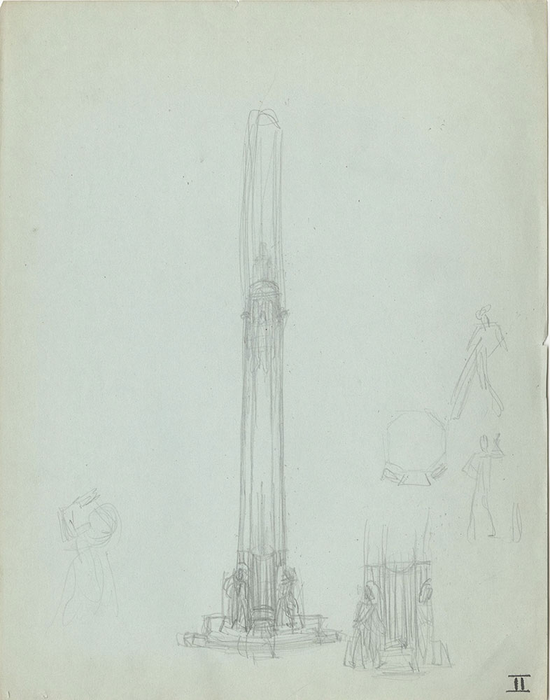 Milhous Sketch - People and Architecture