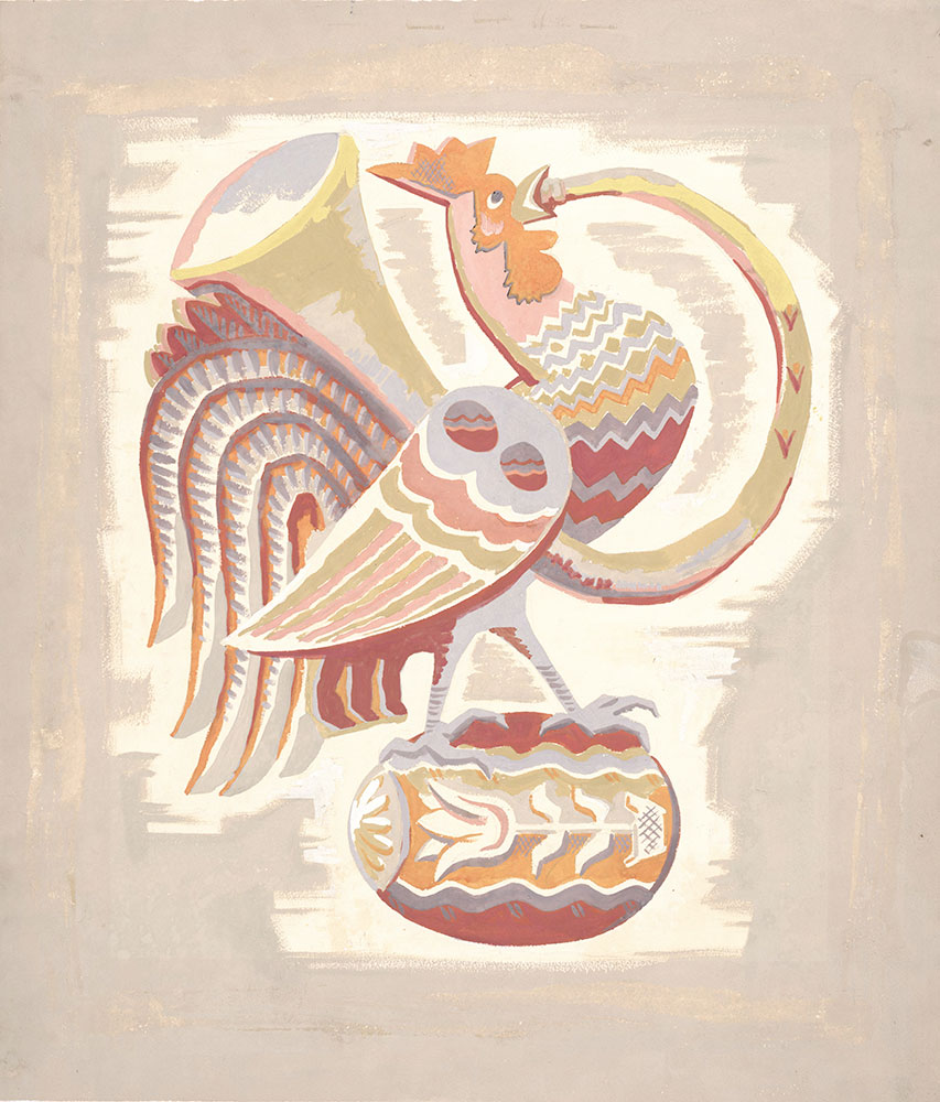 Milhous - Preliminary art for cover, for