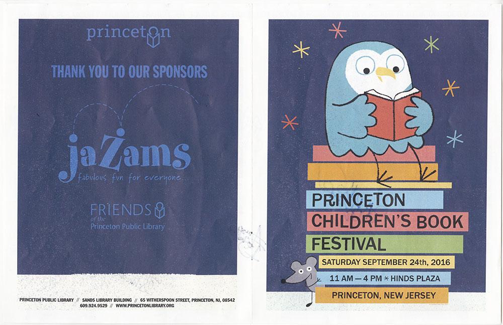 Princeton Children's Book Festival, 2016 - Festival Guide - Outside