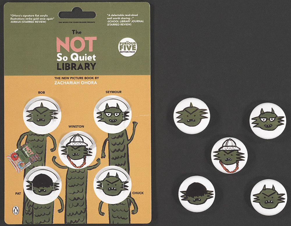 Ohora - Button Set - The Not So Quiet Library