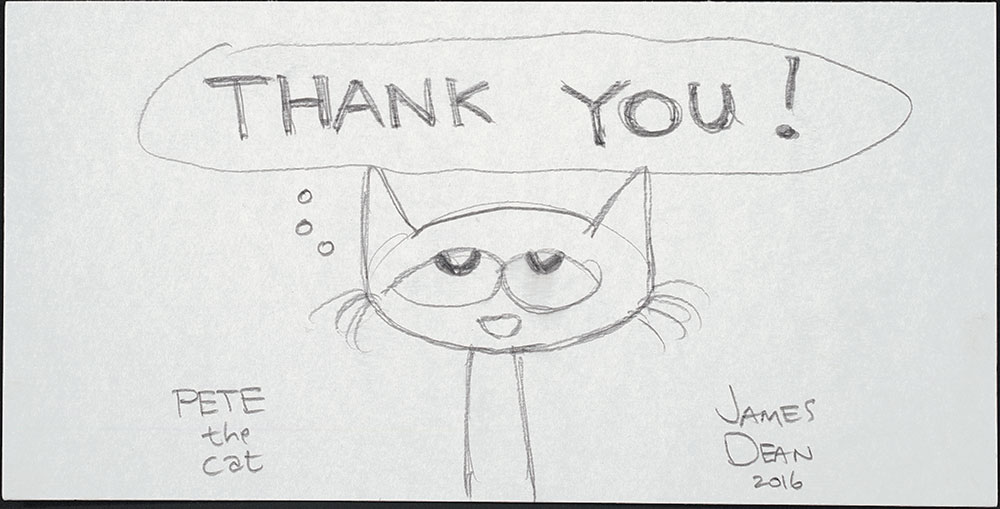 Dean - Pete the Cat - Thank You! sketch