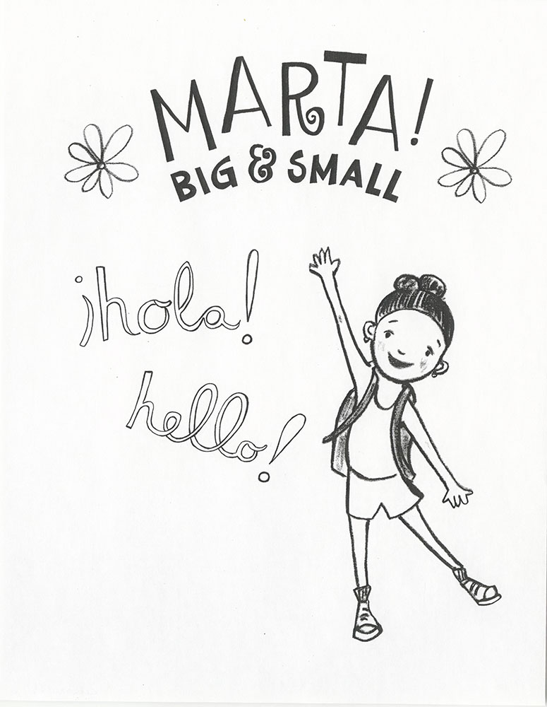 Marta! Big & Small - Coloring page (1)