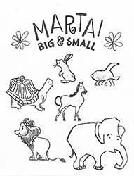 big small coloring page 2 - Big And Small Coloring Pages