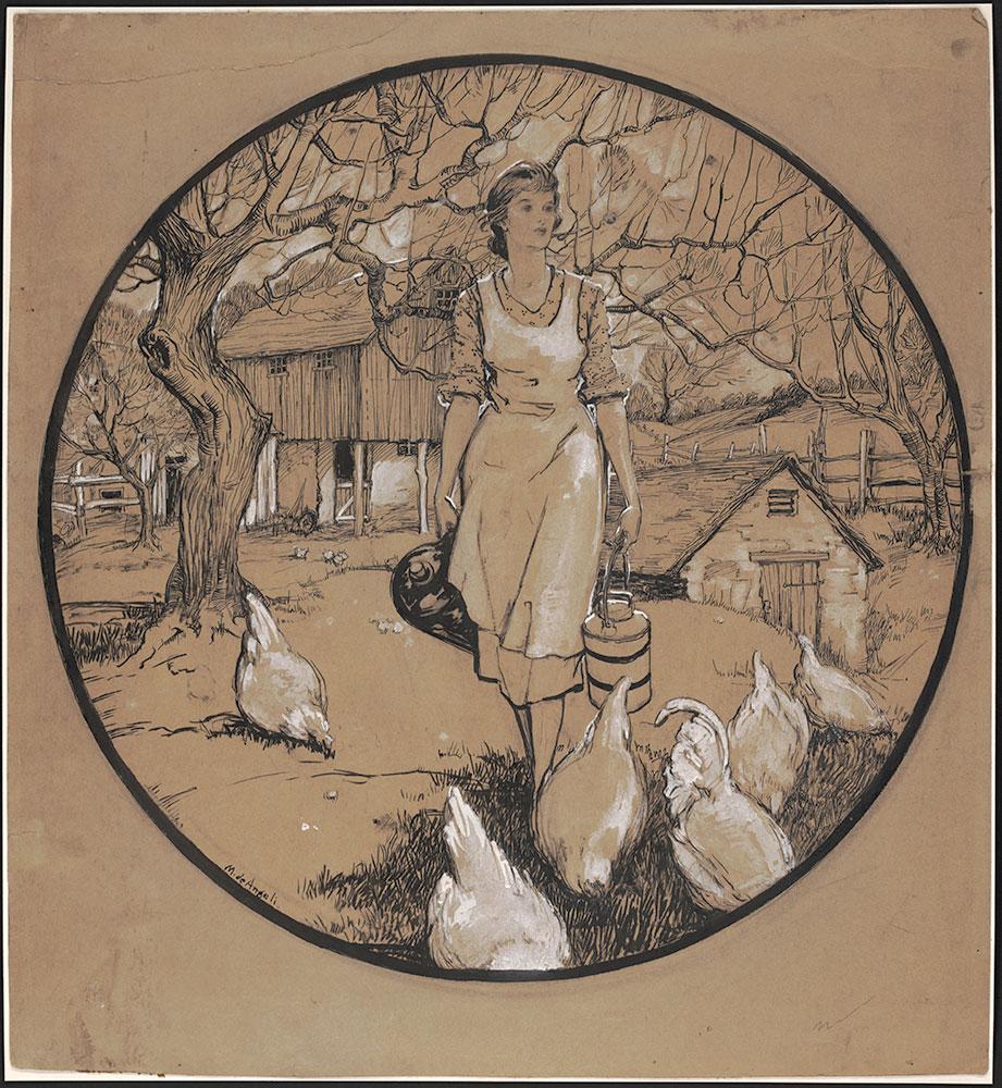 De Angeli - Magazine illustration of a farm girl