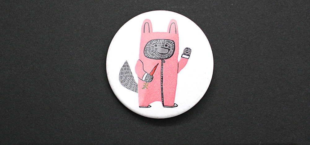 OHora - Wolfie the Bunny Pin