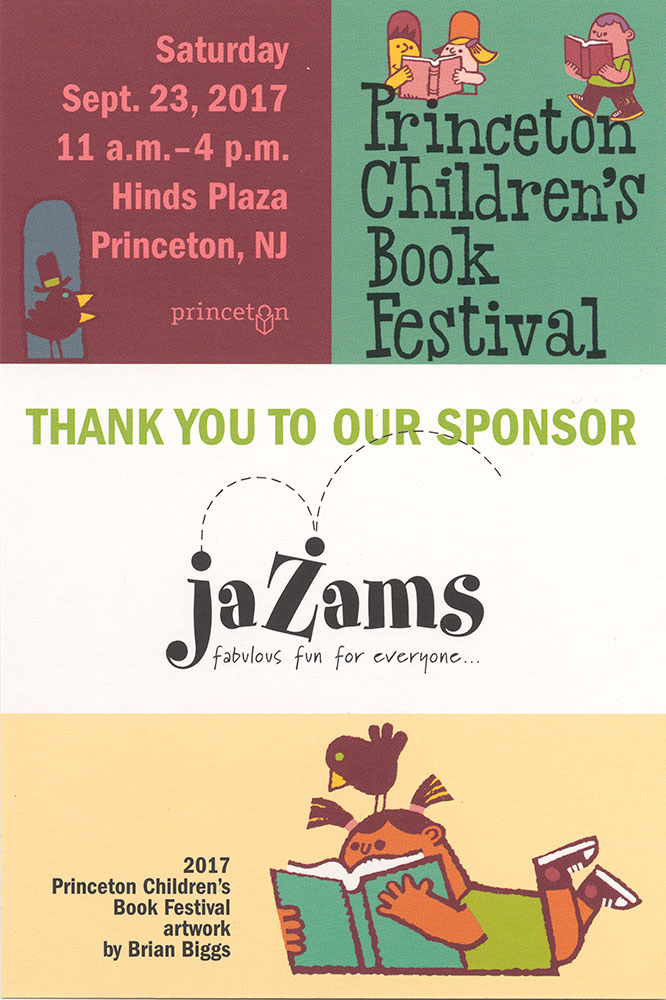 Princeton Children's Book Festival, 2017 - Handbill, back