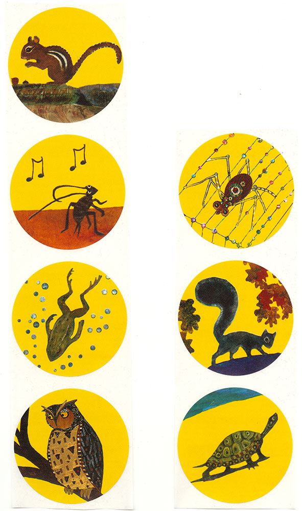 Pennsylvania One Book, Every Young Child Early Literacy Program - Daniel Finds a Poem sticker set