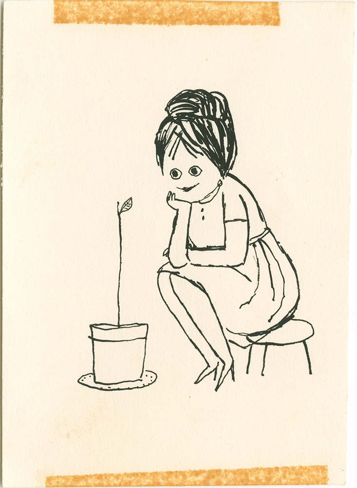 Aliki's Author Illustration from the 1962 edition of My Five Senses