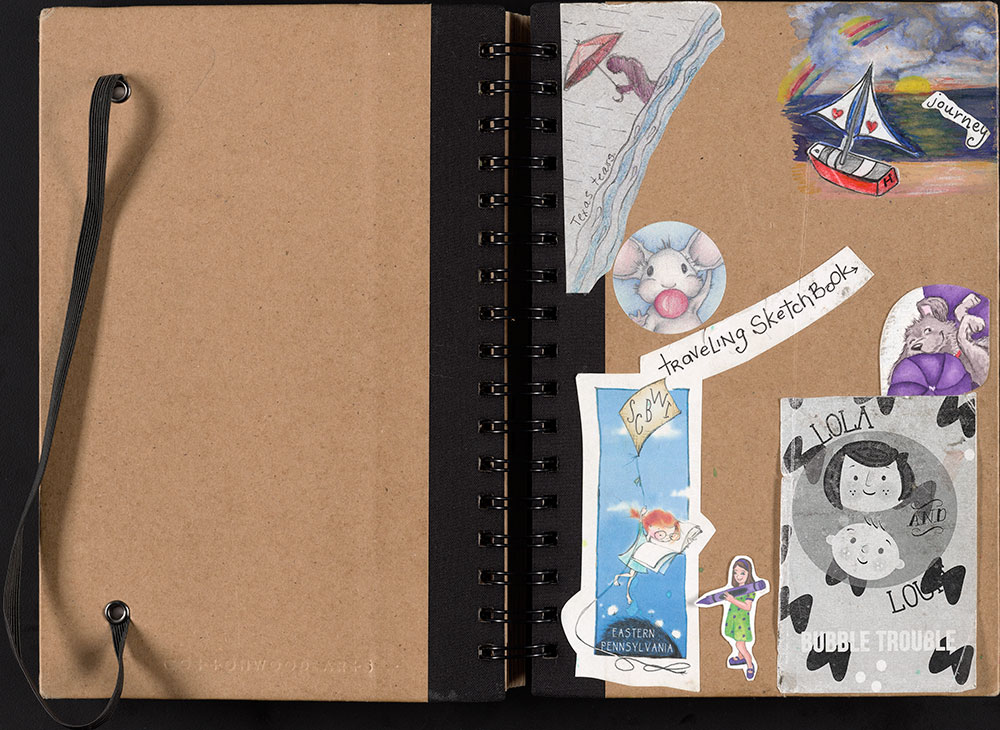 SCBWI Eastern Pennsylvania Traveling Sketchbook (Front & Back Cover)