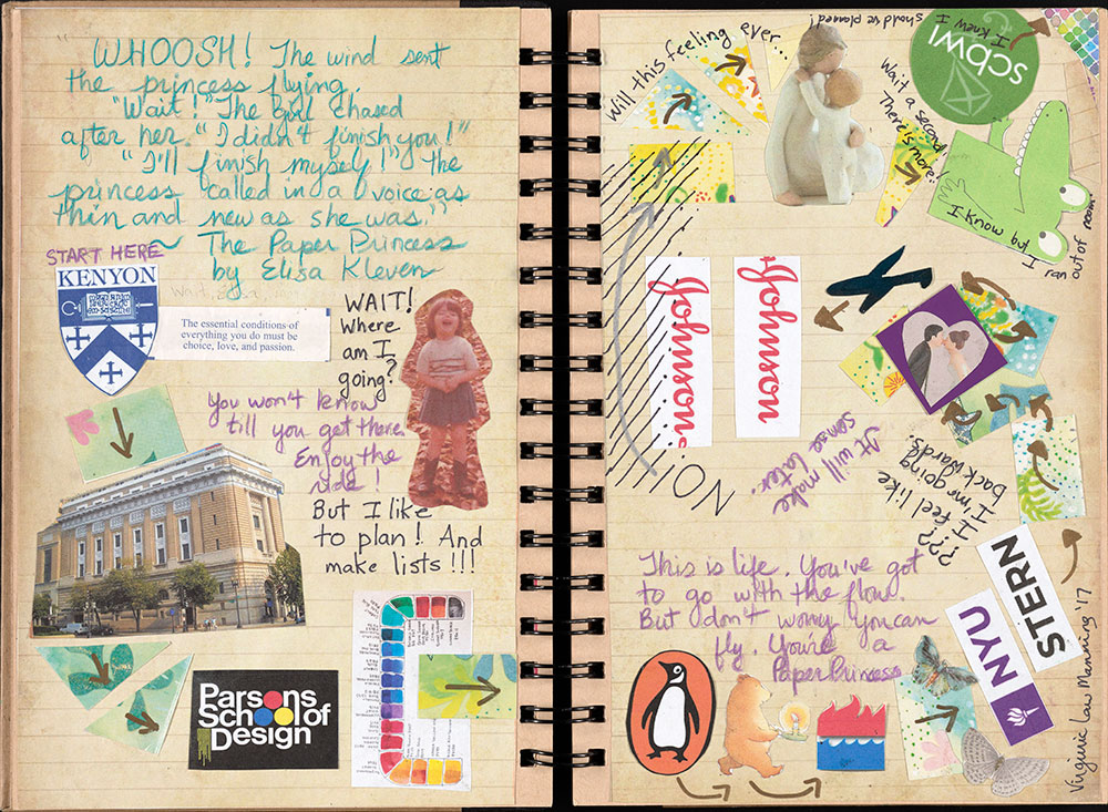 SCBWI Eastern Pennsylvania Traveling Sketchbook - Page 4 and Page 5