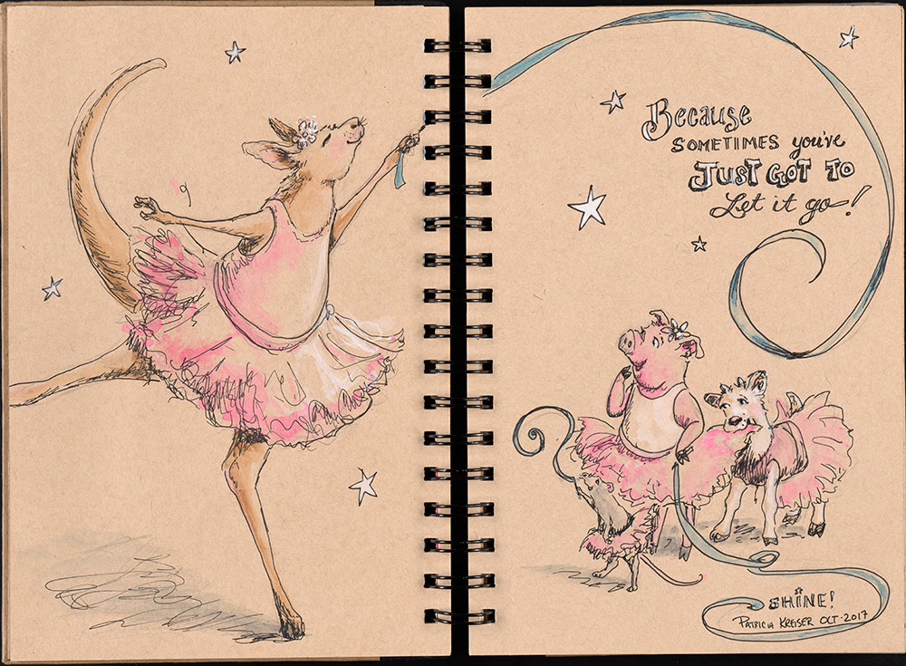 SCBWI Eastern Pennsylvania Traveling Sketchbook - Page 6 and Page 7