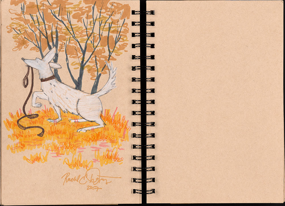 SCBWI Eastern Pennsylvania Traveling Sketchbook - Page 16 and Page 17