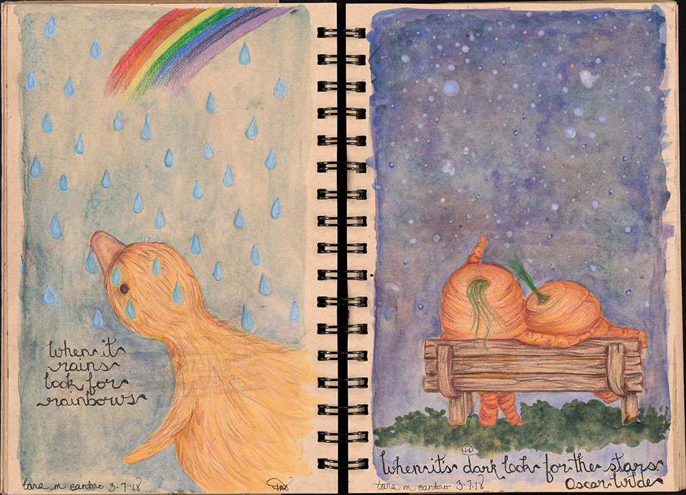 SCBWI Eastern Pennsylvania Traveling Sketchbook - Page 28 and Page 29