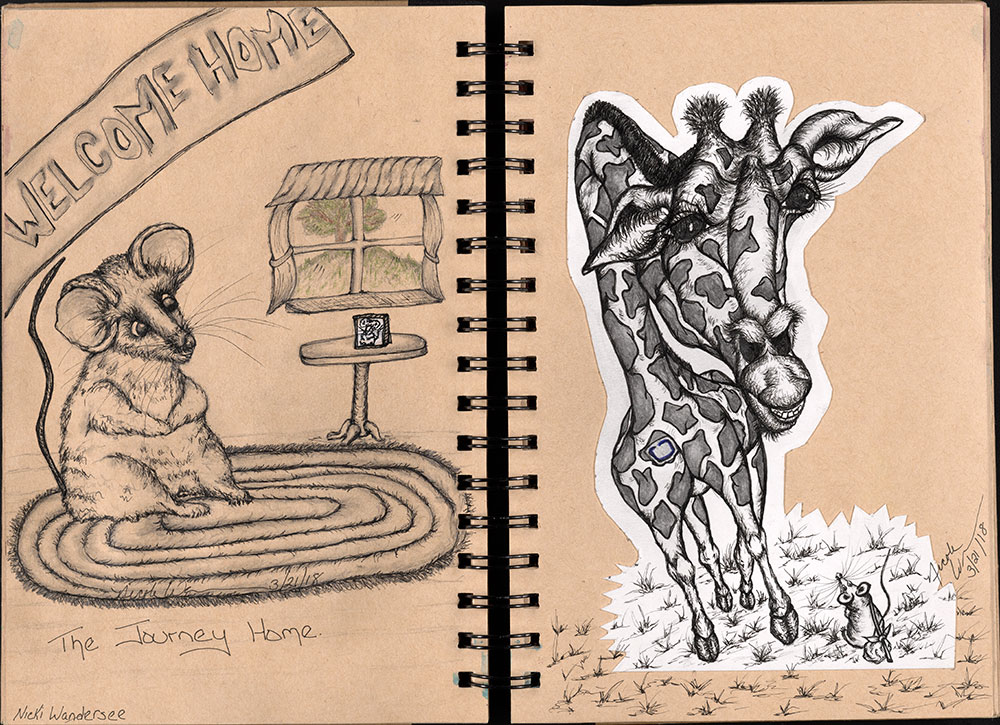 SCBWI Eastern Pennsylvania Traveling Sketchbook - Page 30 and Page 31