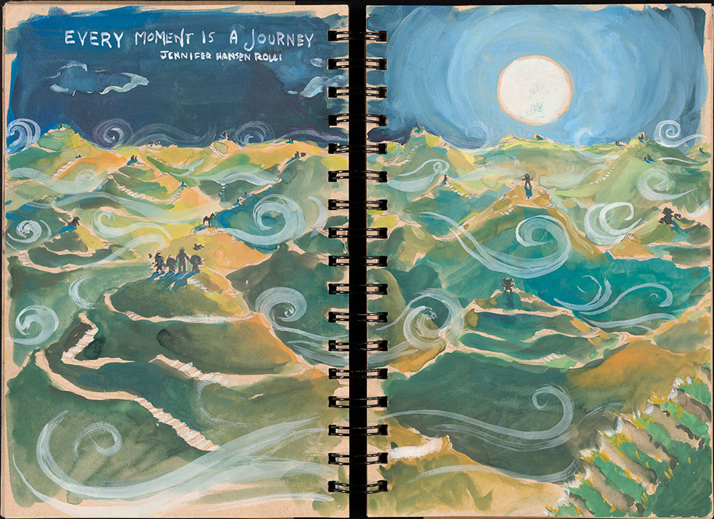 SCBWI Eastern Pennsylvania Traveling Sketchbook - Page 34 and Page 35